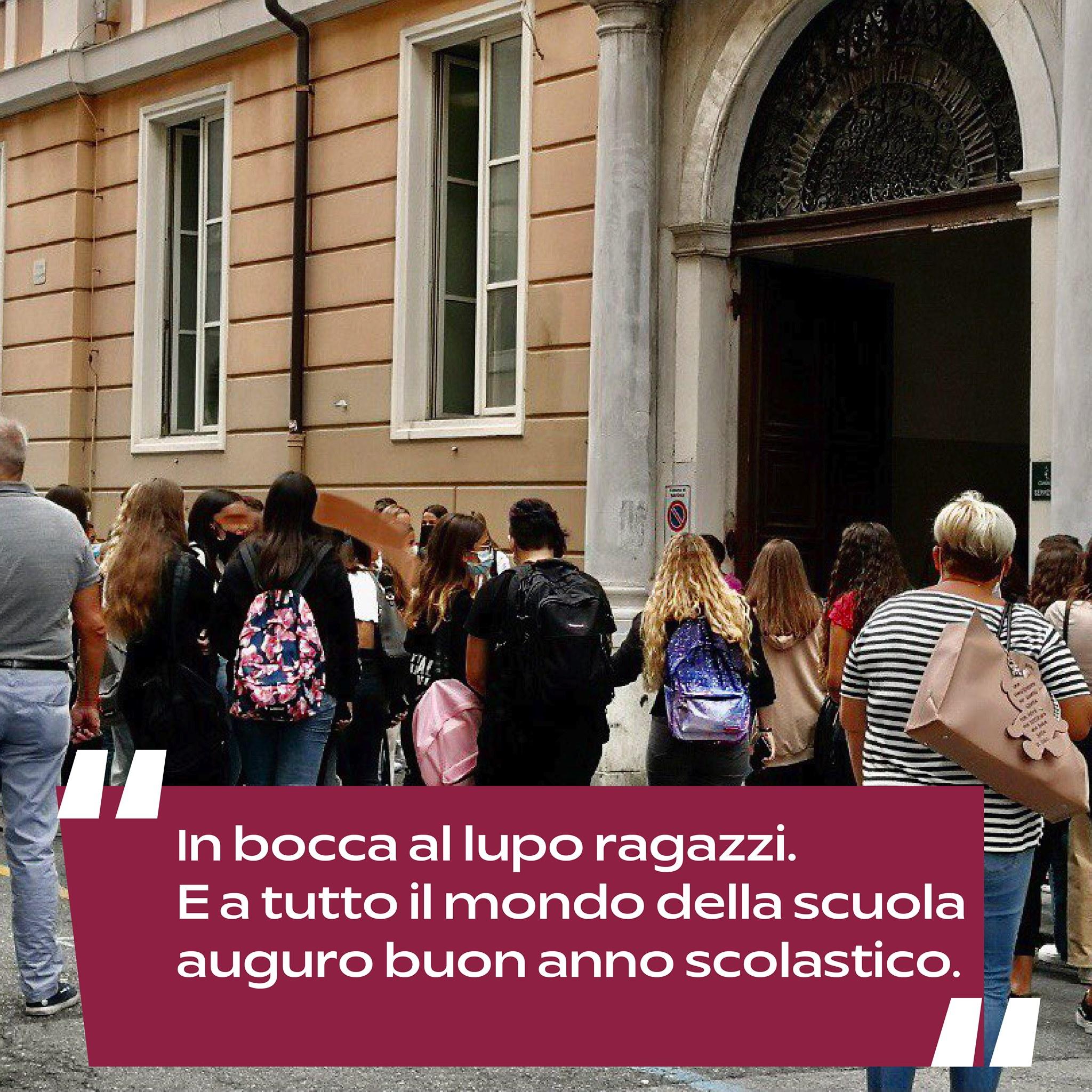 """Prima campanella, Russo scrive ai ragazzi: """"la scuola è un ascensore sociale. Edilizia e nuove idee per riportarla al centro"""""""